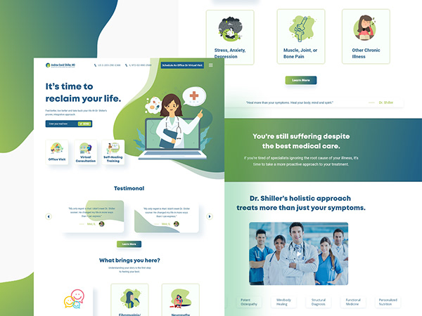 Doctor appointment Home or landing page