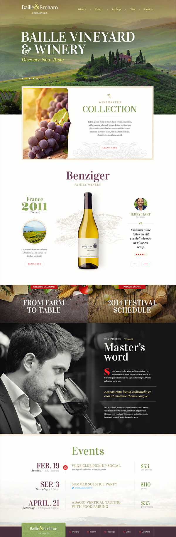 Webdesign site flower cafe hotel wine content navigation Interface button