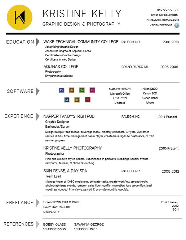 personal logo  u0026 resume on student show