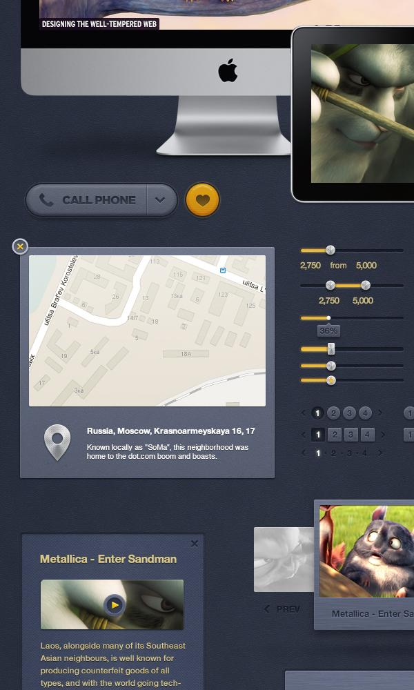 design UI Pack kit user interface Web component