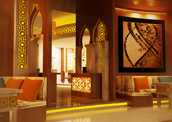 Modern islamic restaurant proposal on behance