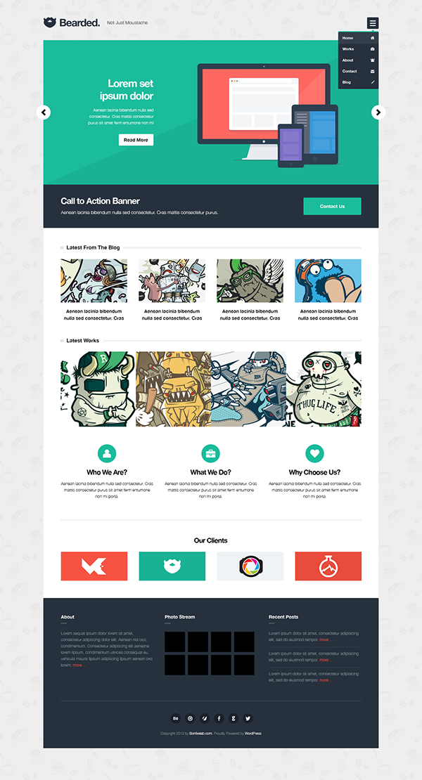 Bearded Free PSD & WordPress Theme on Behance