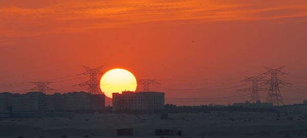 manchester  Skyline sunset aperture