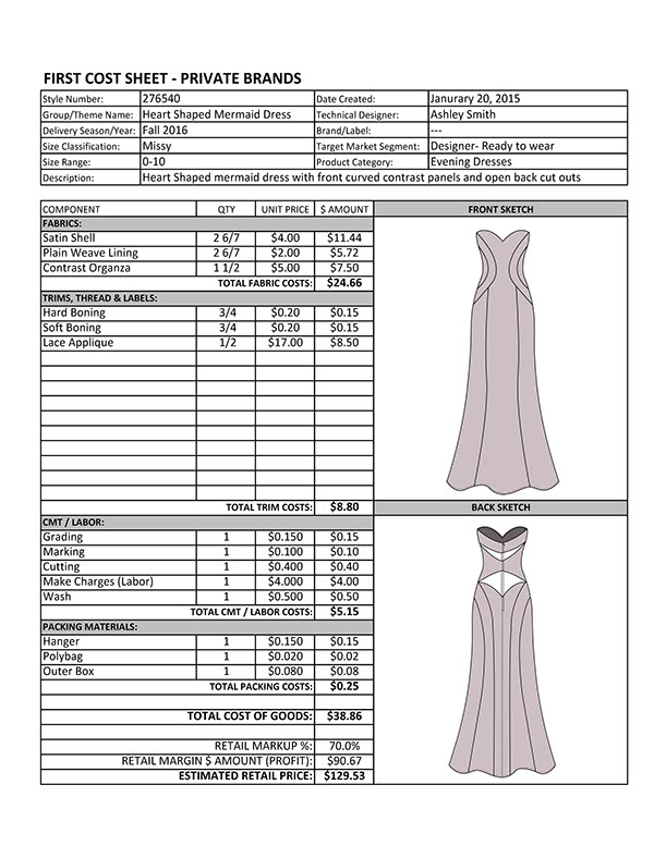 Chaotic Harmony Technical Design Evening Gown On Fidm Portfolio Gallery