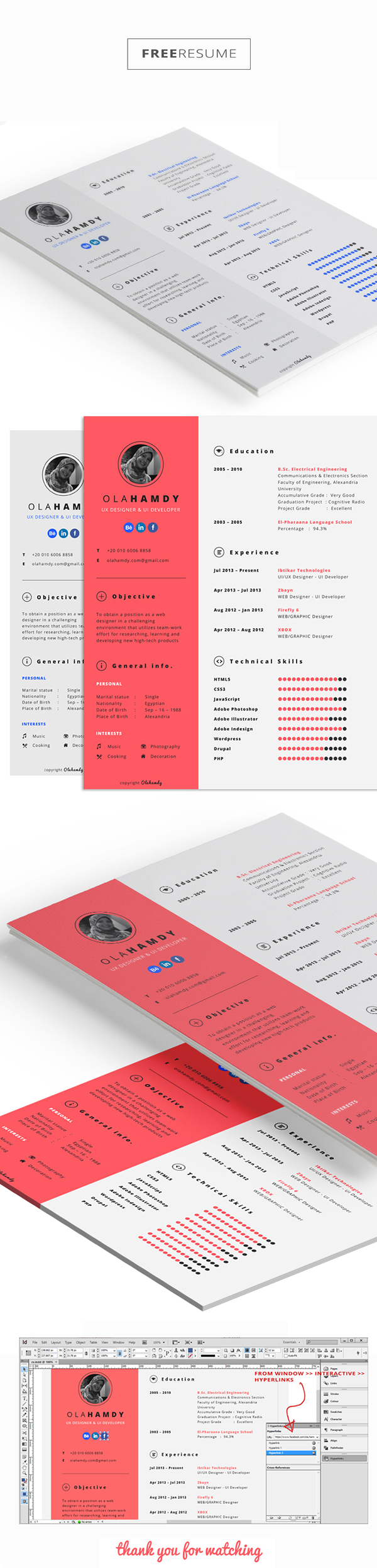 interactive resume template