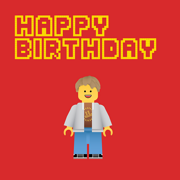 Lego Birthday Card On Behance