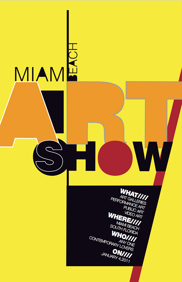 Miami Art Show Poster On Pantone Canvas Gallery