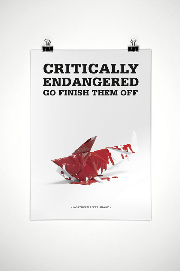 papercraft origami  Protection of Species poster campaign animals