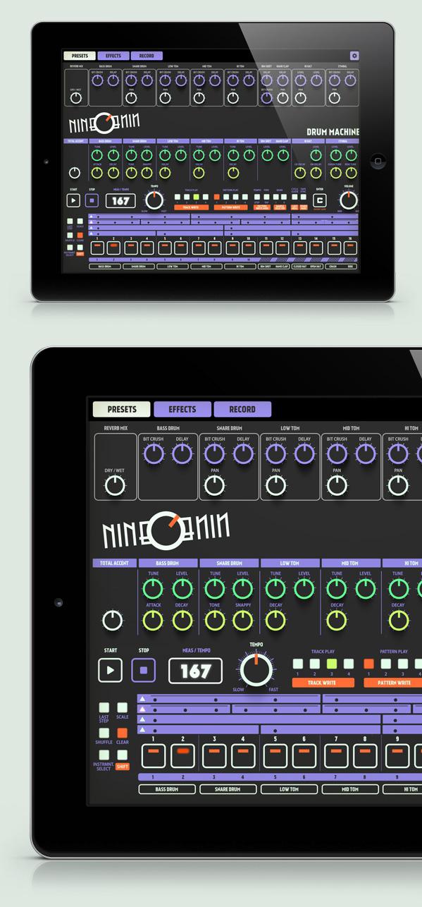 nineonine drum machine ipad app fluo version on pantone canvas gallery. Black Bedroom Furniture Sets. Home Design Ideas