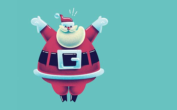 細緻的34個聖誕卡片設計欣賞