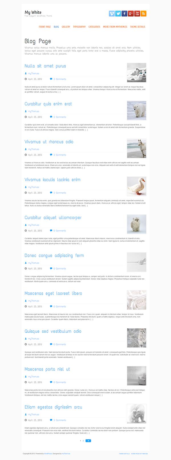 business Clean WordPress Theme corporate Custom features elegant theme Free Template free wordpress theme minimalist white theme wordpress
