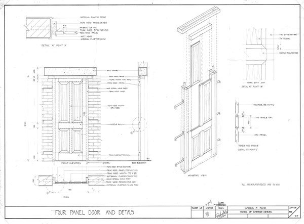 Furniture Working Drawings Working Drawing of 8 Panel