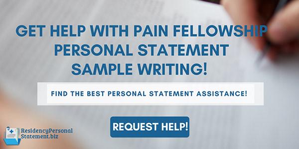 Pain Fellowship Personal Statement Sample on Pantone Canvas