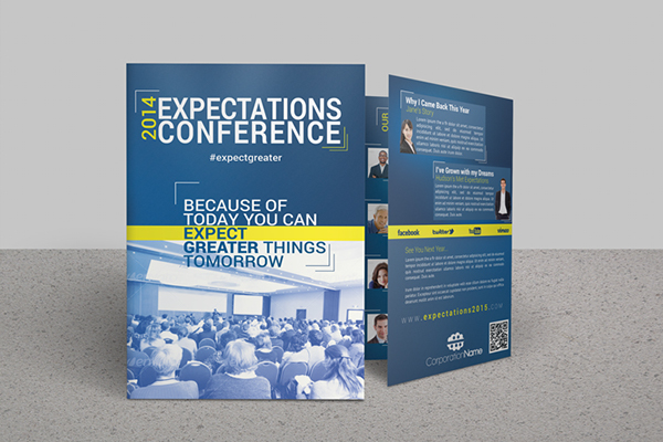 Expectations Bifold Brochure Template On Behance - Workshop brochure template