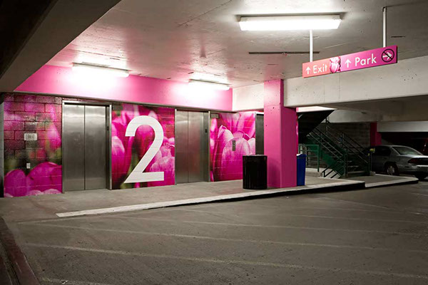 Town Pavilion Parking Garage Wayfinding On Behance