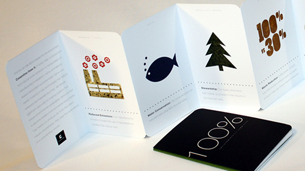 accordion brochure on aiga member gallery
