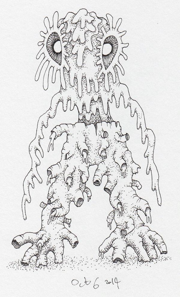 evil monster devil demon ink pagan Magic   creep