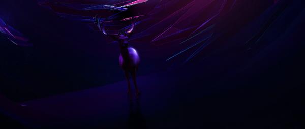 art deer abstract Scifi c4d blue spirit