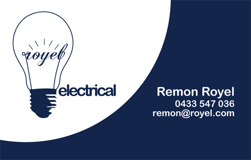 Royel electrical identity on behance logo worked into business card kept it clean and simple colourmoves