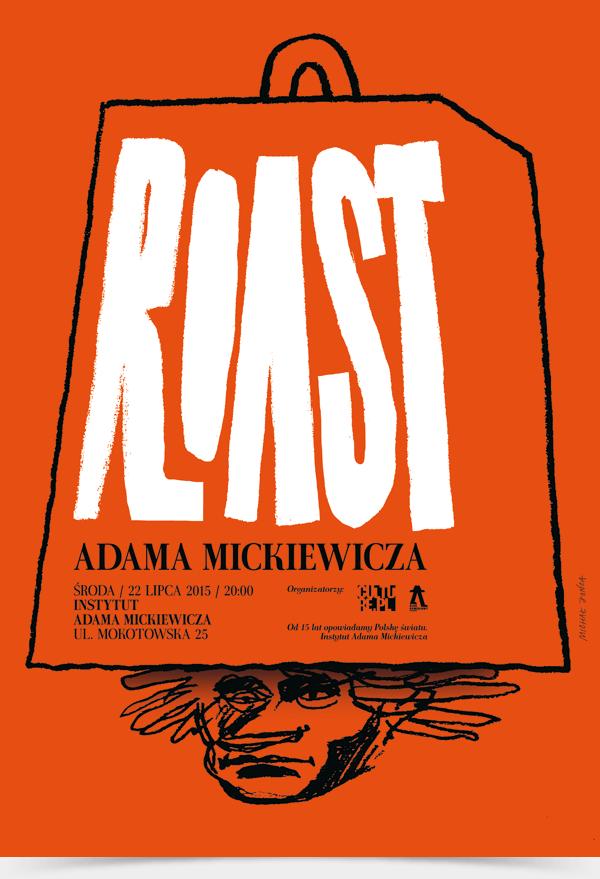 poster polish anniversary red orange pencil hand drawing