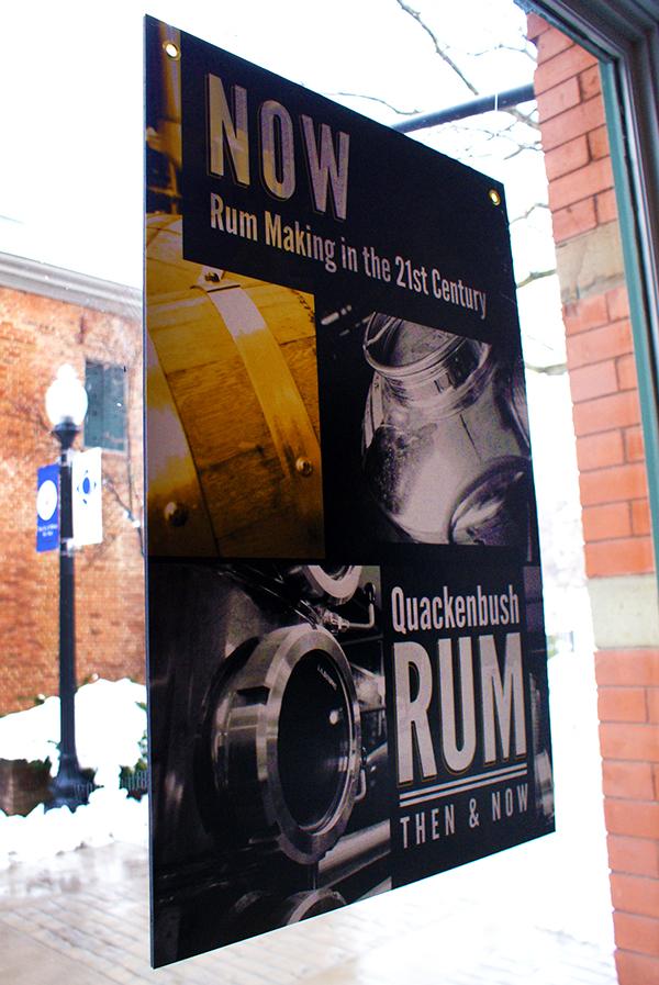 Rum quackenbush exhibit gallery Albany panels