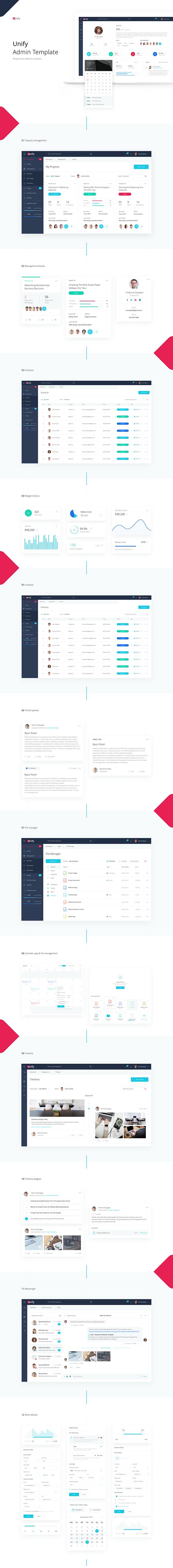 Responsive admin template design