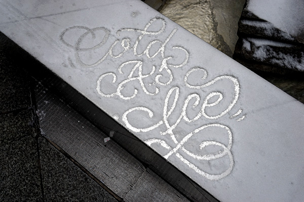 Snow Script by Faust New York
