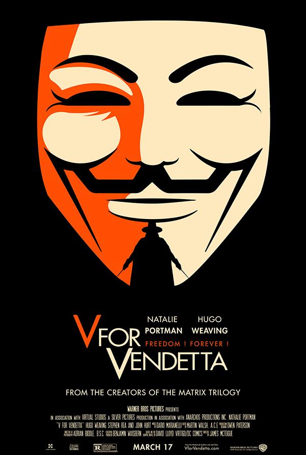 V For Vendetta Movie Poster V for Vendetta movie p...