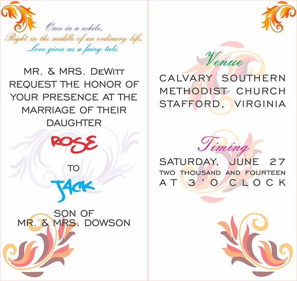 1 Invitation Card Wedding On Behance