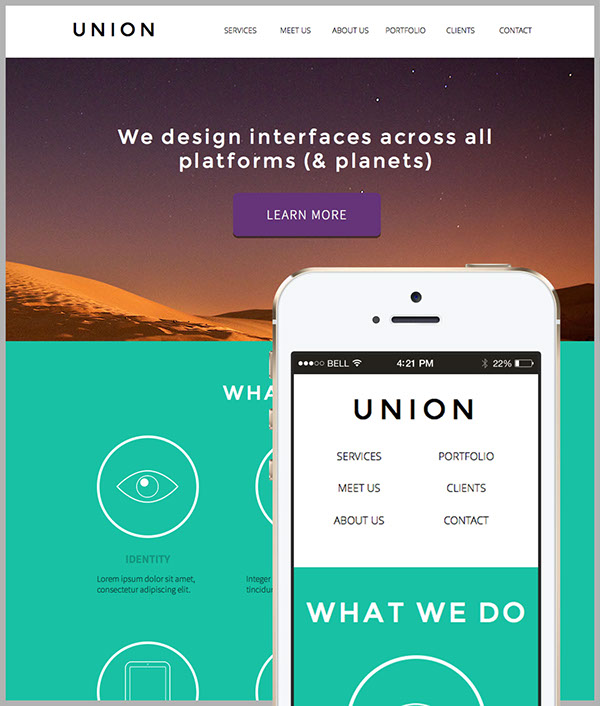 Union Adobe Muse Website Template On Behance - Adobe muse website templates