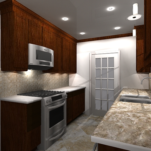Galley Kitchen Remodels Before And After: A Galley Kitchen Remodel Design On Behance