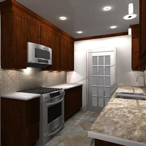 A Galley Kitchen Remodel Design On Behance
