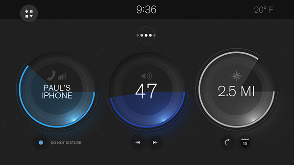 in car interaction vehicle interface  touch screen multi touch gesture
