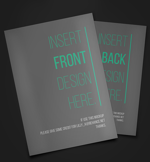 free simple flyer mockup front and back 2280x2464 on behance