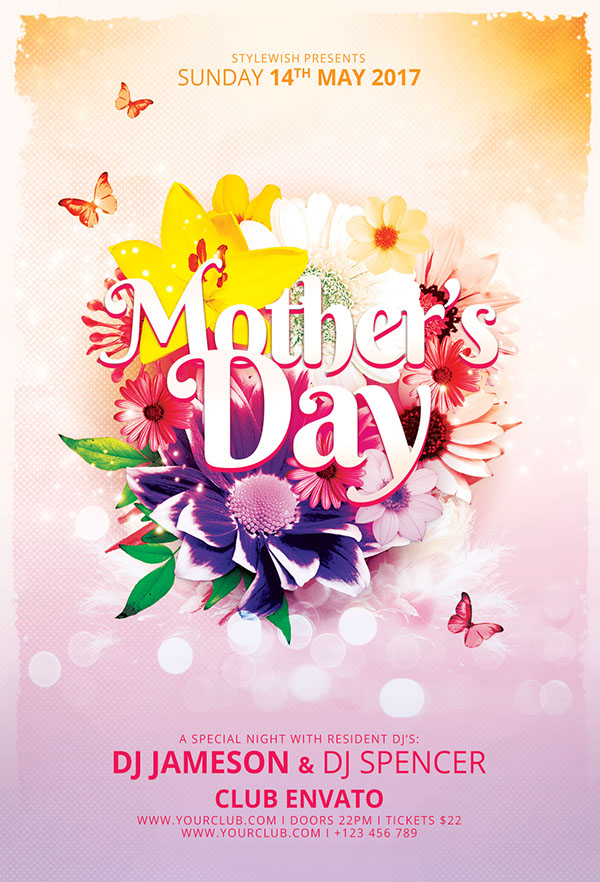 MotherS Day Flyer On Pantone Canvas Gallery