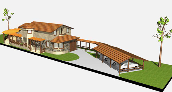 Small villa design on risd portfolios for Small villa plan