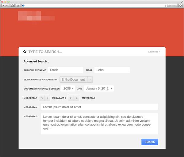 UI Design: Database search app on Behance