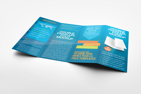 Double Parallel Fold Brochure Mockup On Behance