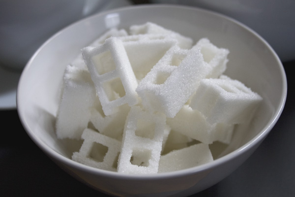cinderblocks sugar casting food design