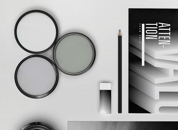 Production shoot logo Layout business card light photo shadow Fade camera black contrast