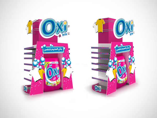 Oxi in-store Media on Behance