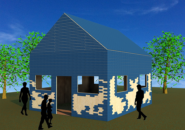 The blue brick project bare your sole 2014 on student show - Brick houses three beautiful economical projects ...