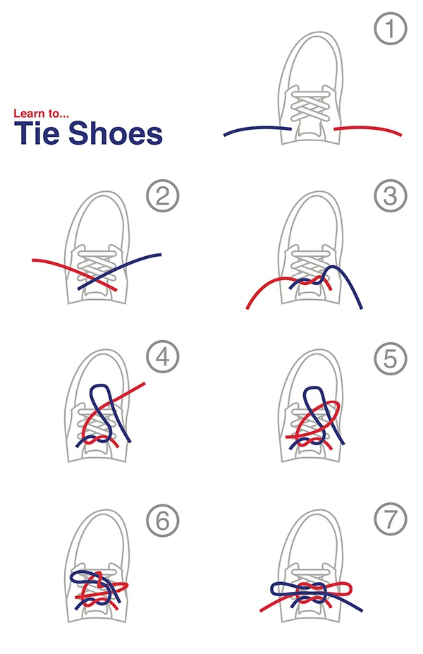learn to tie shoes on behance