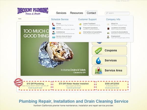 Discount Plumbing Full Agency Work Up On Behance