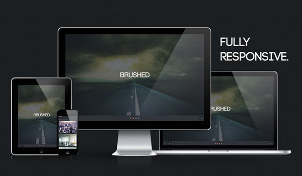 Brushed - Free Responsive One Page HTML Template on Behance