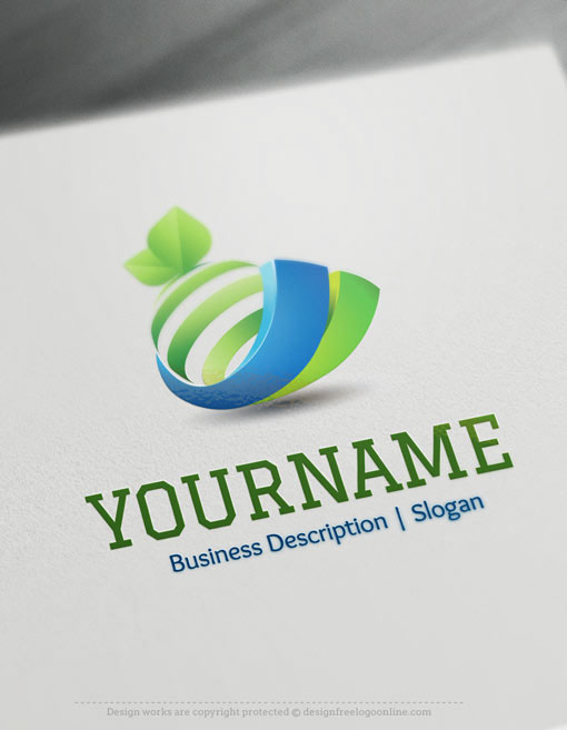 3d logos free logo maker on behance for Logo design online free 3d