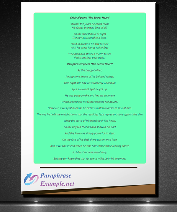 Example Of Paraphrasing A Poem On Pantone Canvas Gallery