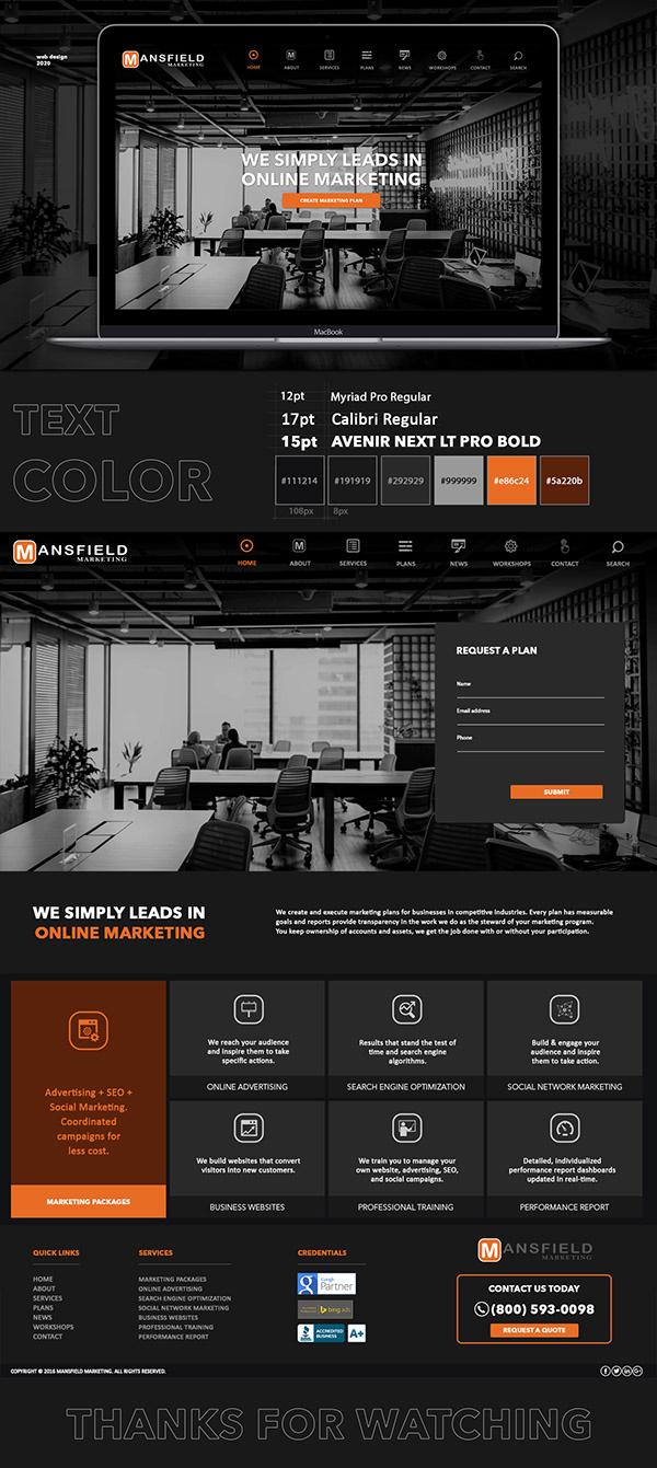 Marketing Company Website