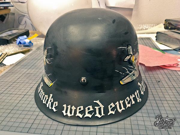 Ww2 German Helmet On Pantone Canvas Gallery