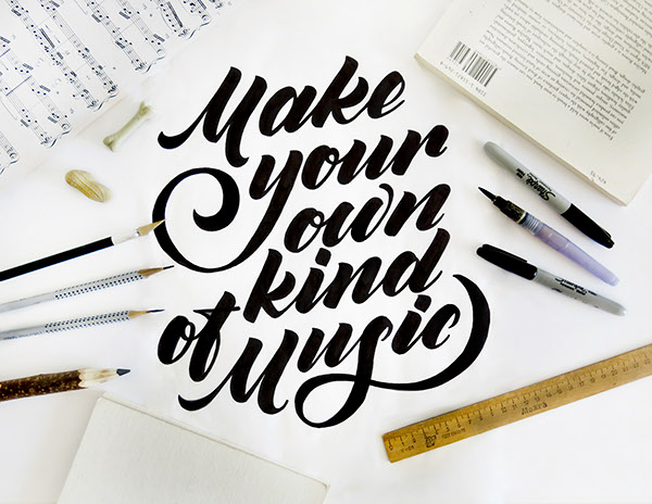 Make your own kind of music - Typography Served -  25 Beautiful Examples of Motivational Quote Typography // the PumpUp Blog
